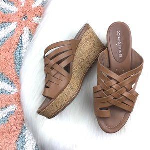 Donald J Pliner Flore Woven Platform Wedge Sandals